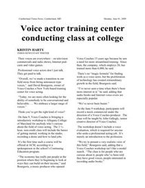 Cumberland Times voice over news