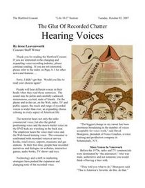 Hartford Courant voice over news