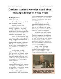 voice over news