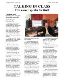 Post Standard Voice Over Class Article