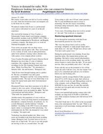 Radio Voiceover Training Article
