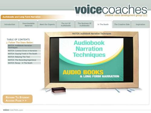 Audiobooks Voice Over Class