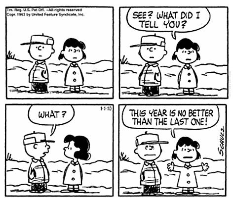 New Year's Peanuts Cartoon