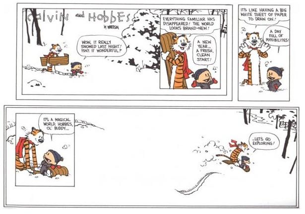 New Year's Calvin & Hobbes