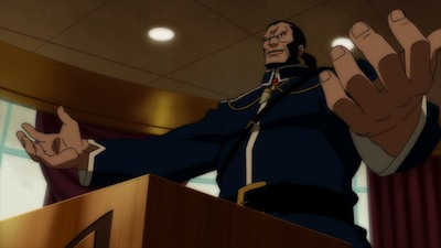Vandal Savage at Podium